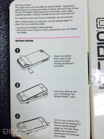 Purported Incipio Cashwrap retail packaging spotted in AT&T store | Image credit: Engadget