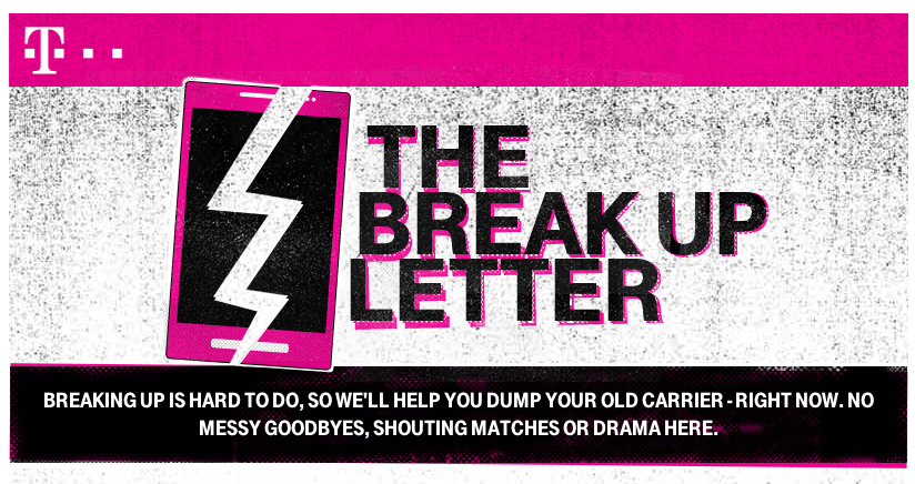 T-Mobile Breakup Letter Page
