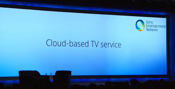 Sony Cloud-Based TV Service Launch