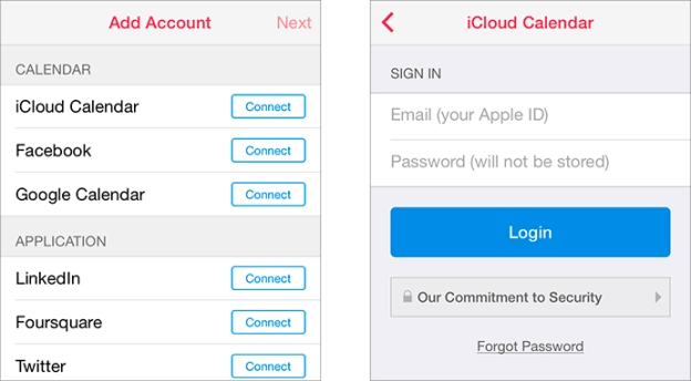 Sunrise Calendar iOS app requesting the user's Apple ID credentials | Image source: Marco.org