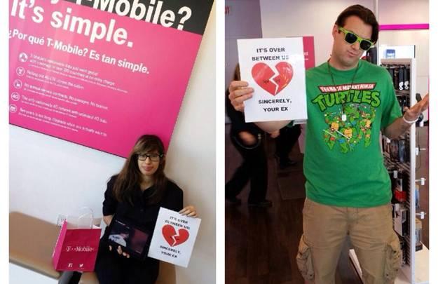 T-Mobile Breakup Letters