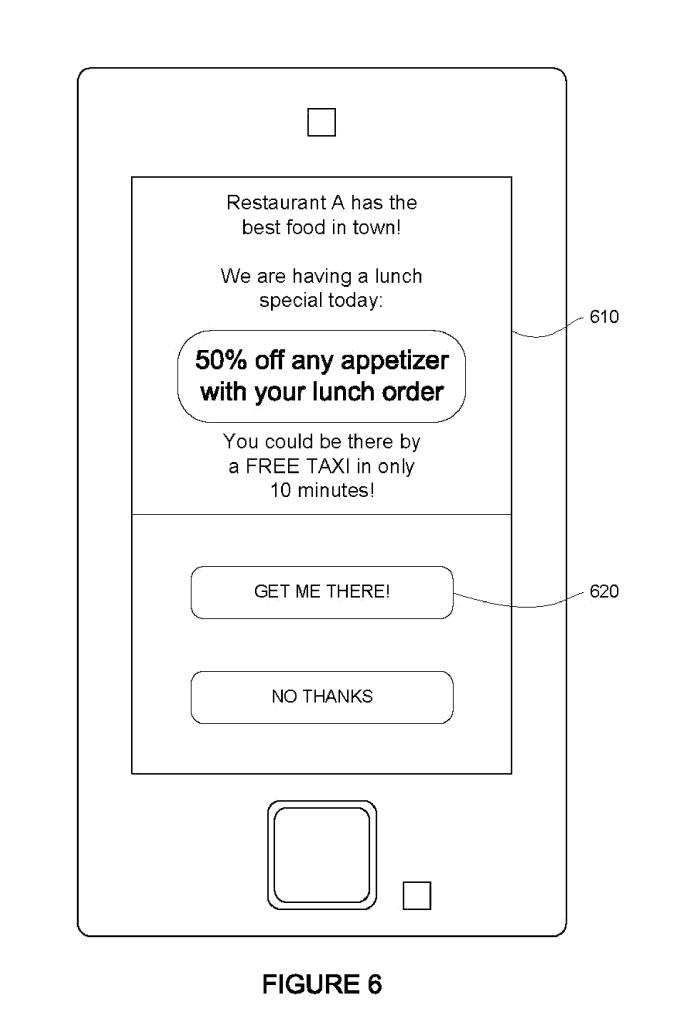 Google car ads patent