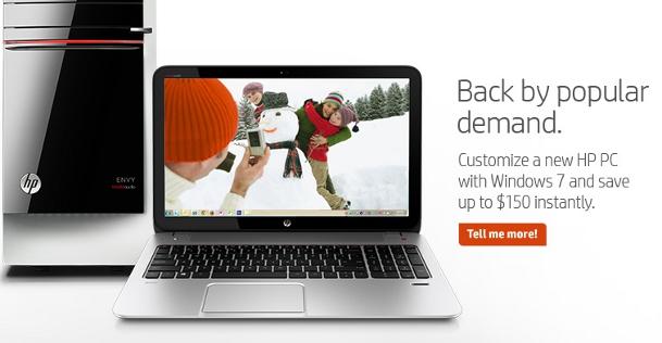 HP Windows 7 PCs Return