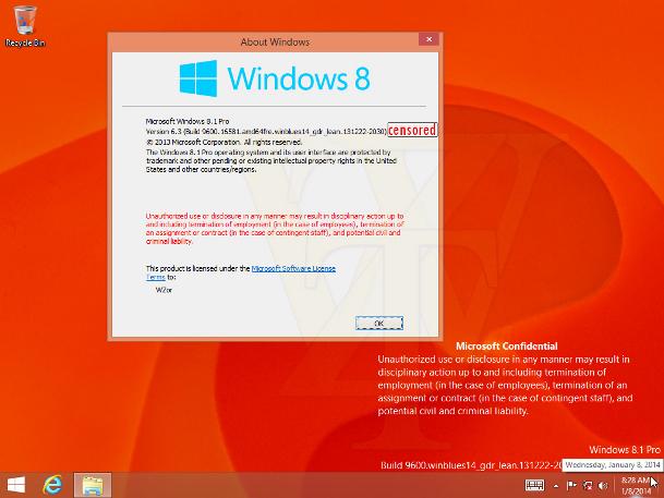 Windows 8.1 Update 1 Leak