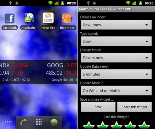 Android-Stocks-Tape-Widget