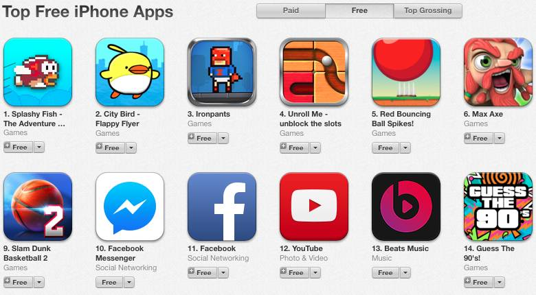 Flappy Bird iOS Android Clone