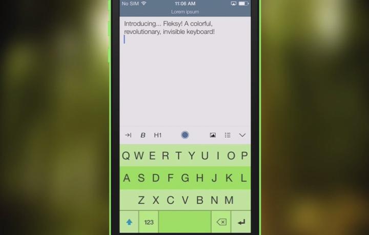 Fleksy iOS 8 Keyboard App