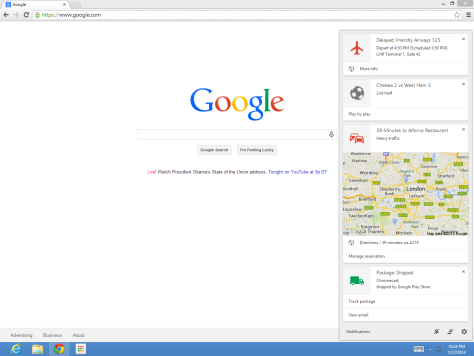 Google Now Chrome Release Date