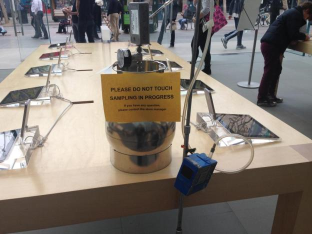 Air sampler at Santa Monica Apple retail store