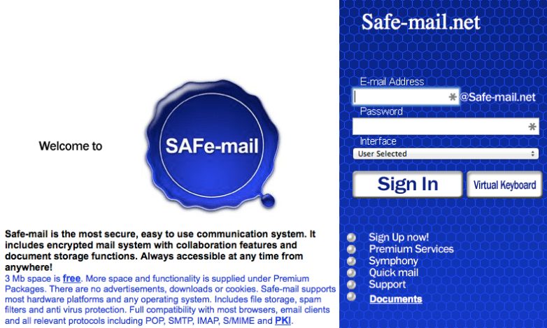 NSA Proof Email Safe-mail