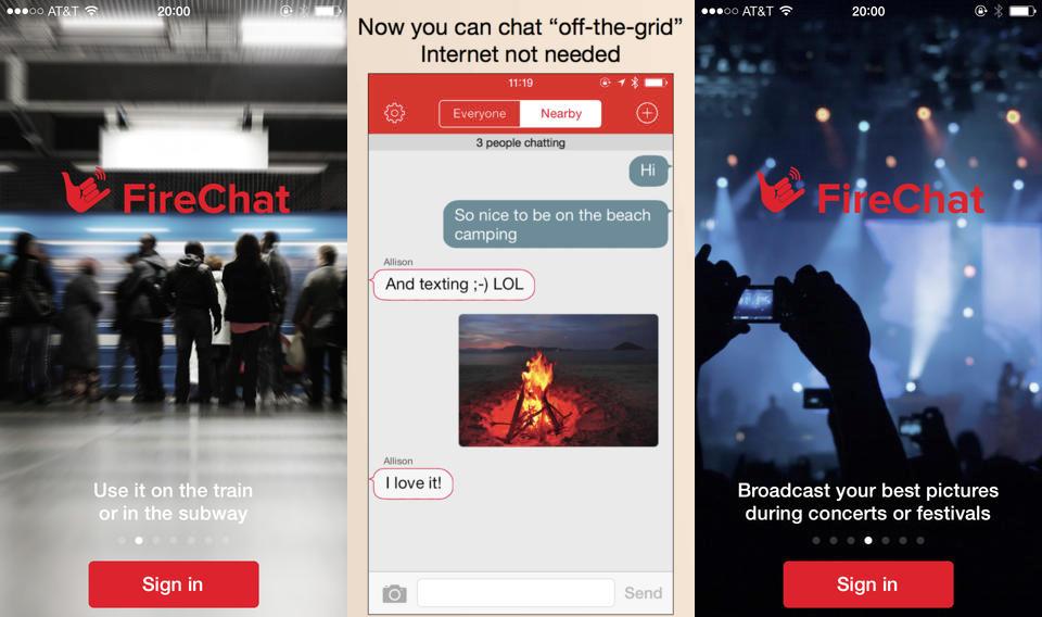 FireChat Messaging App Internet