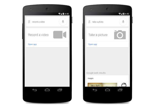 Google Now Voice Commands for Camera