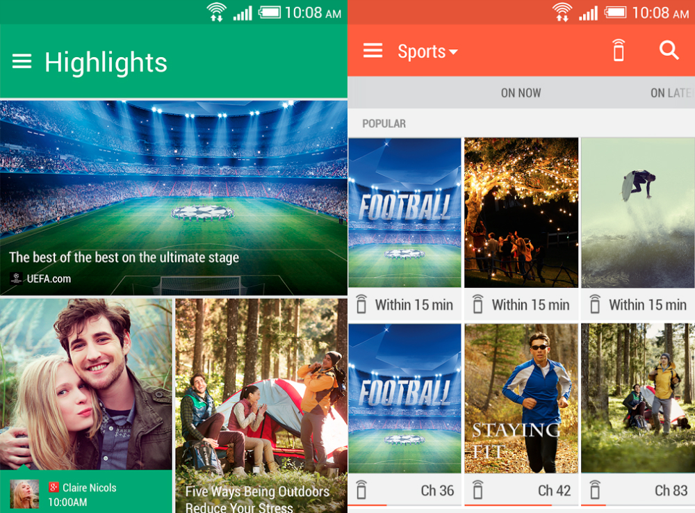 HTC One M8 BlinkFeed Service Pack Apps