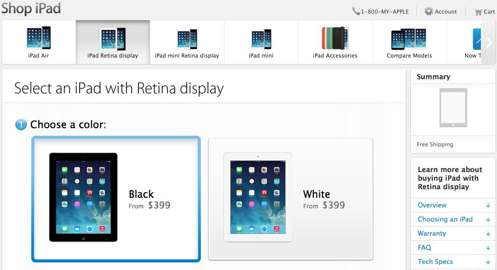 iPad 4 Launch Price