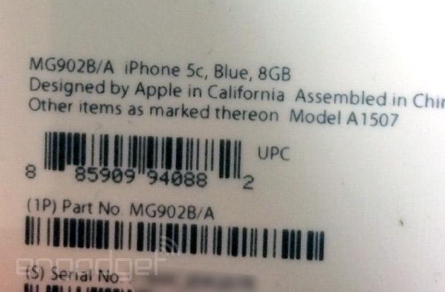 iPhone 5c 8GB Leak