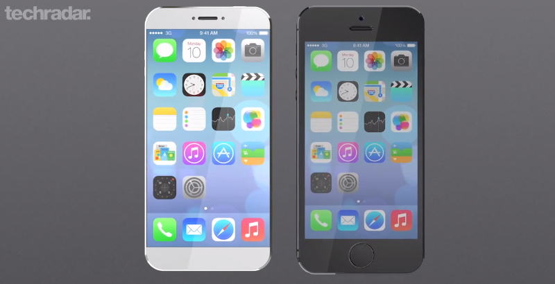 iPhone 6 Concept Display Size Home Button