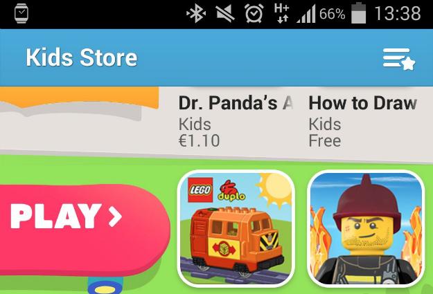 Galaxy S5 Kids Store