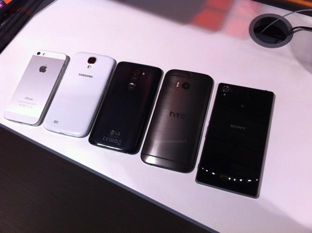 HTC One Vs Galaxy S5