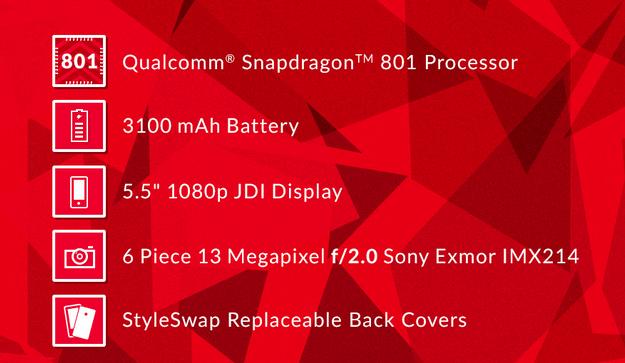 OnePlus One Specs: Qualcomm Snapdragon 801 CPU