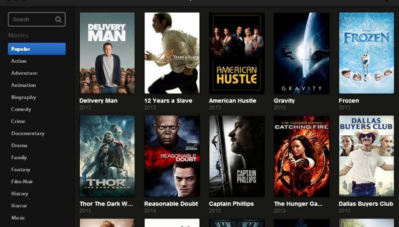 Popcorn Time Down Movie Industry