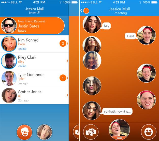 React Messenger iPhone