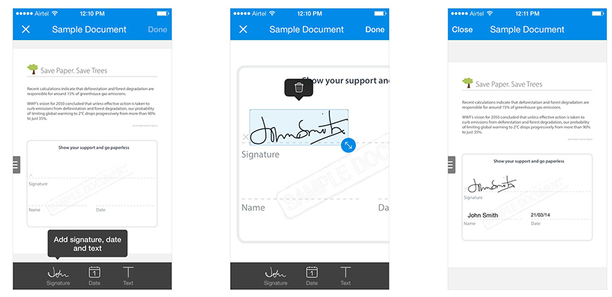 SignEasy iOS 7 Update Download