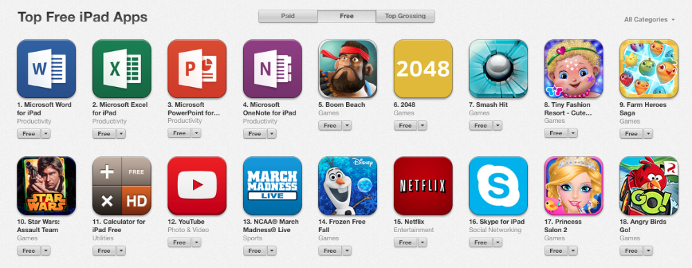 great free apps for ipad