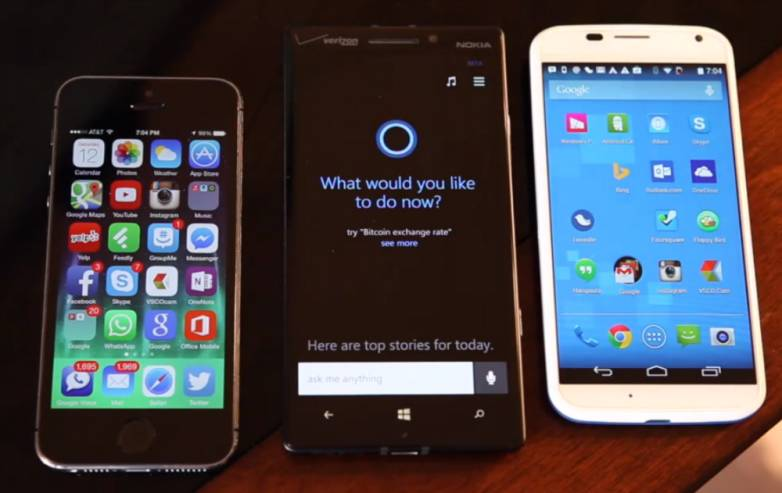 Cortana vs Siri vs Google Now