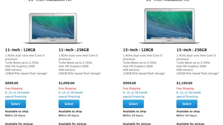Early 2014 MacBook Air Specs