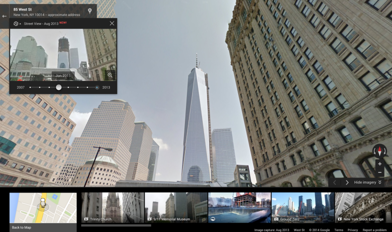 Google Maps Street View 4D