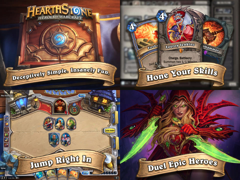 Hearthstone Heroes of Warcraft for iPad