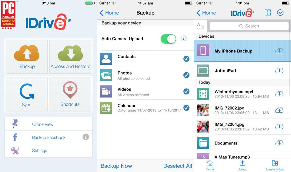 100GB iDrive Cloud for iPhone and iPad