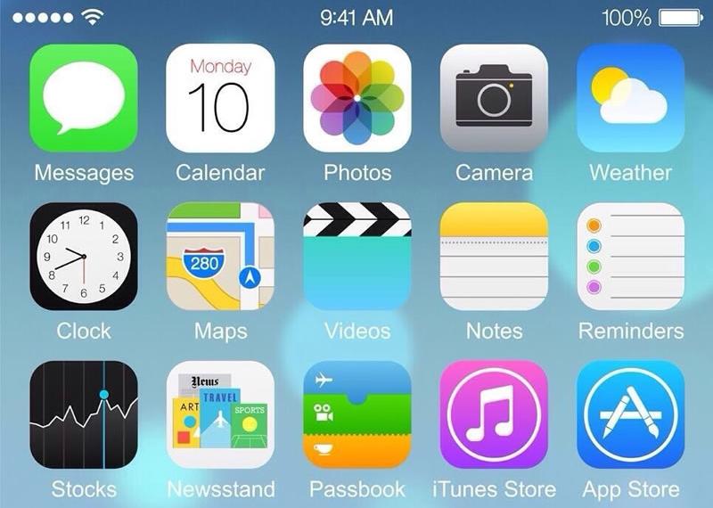 iPhone 6 iOS 8 Home Screen