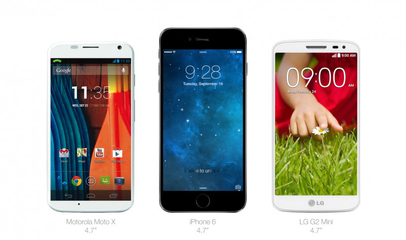 http://bgr.com/2014/04/24/iphone-6-vs-iphone-5s-vs-nexus-5-vs-galaxy-note-3/