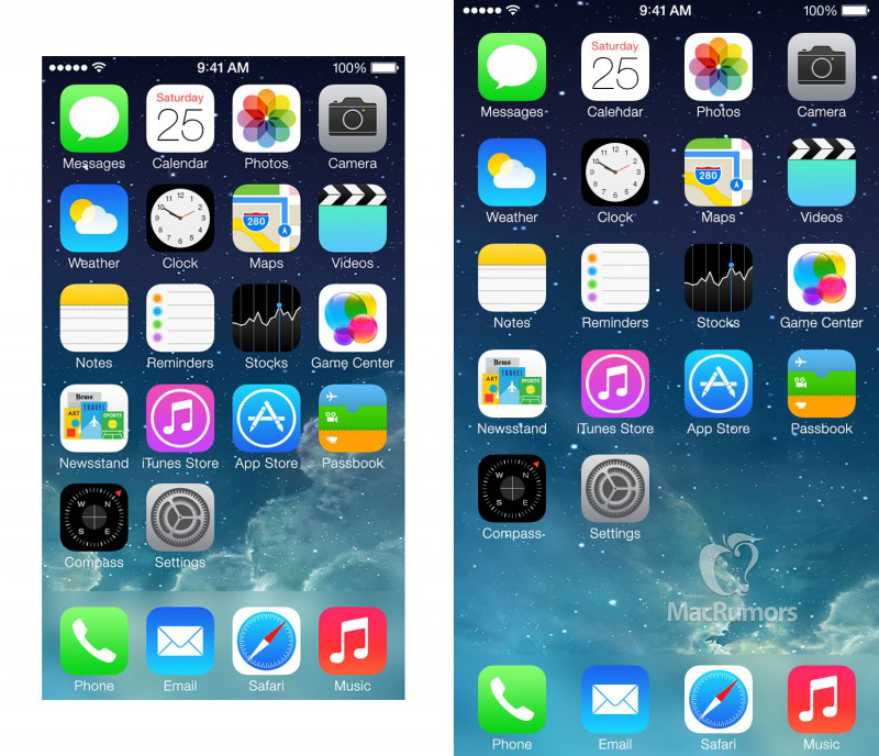 This is what apps could look like on the iphone 6 s bigger for Iphone picture apps free