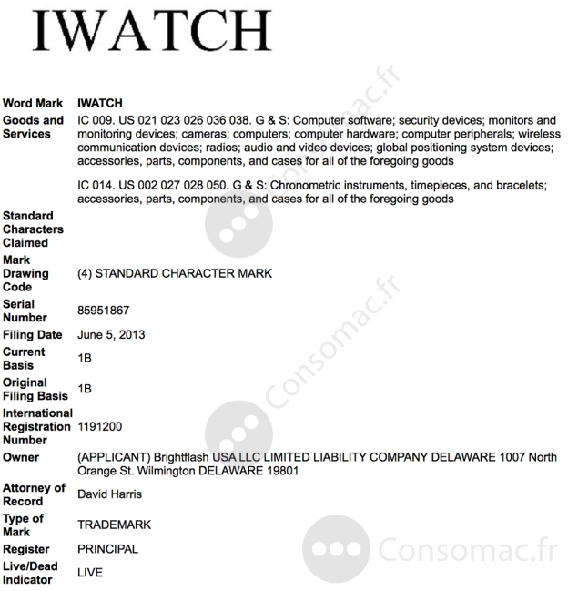 iwatch-uspto-usa-trademark-application-1