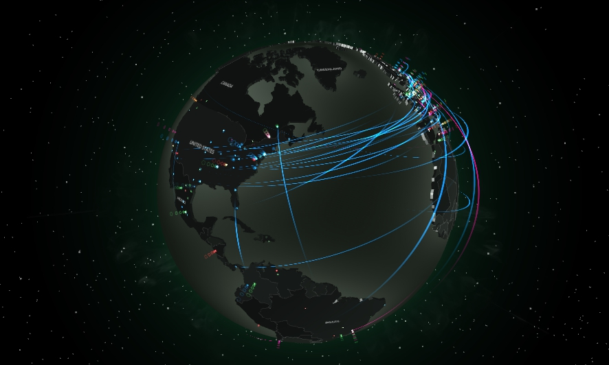 Malware Global Infection Map