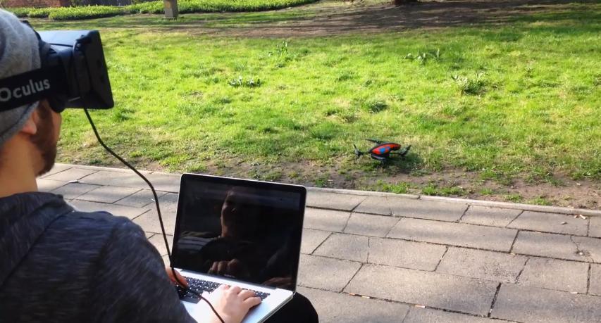 Parrot AR Drone Oculus Rift Project