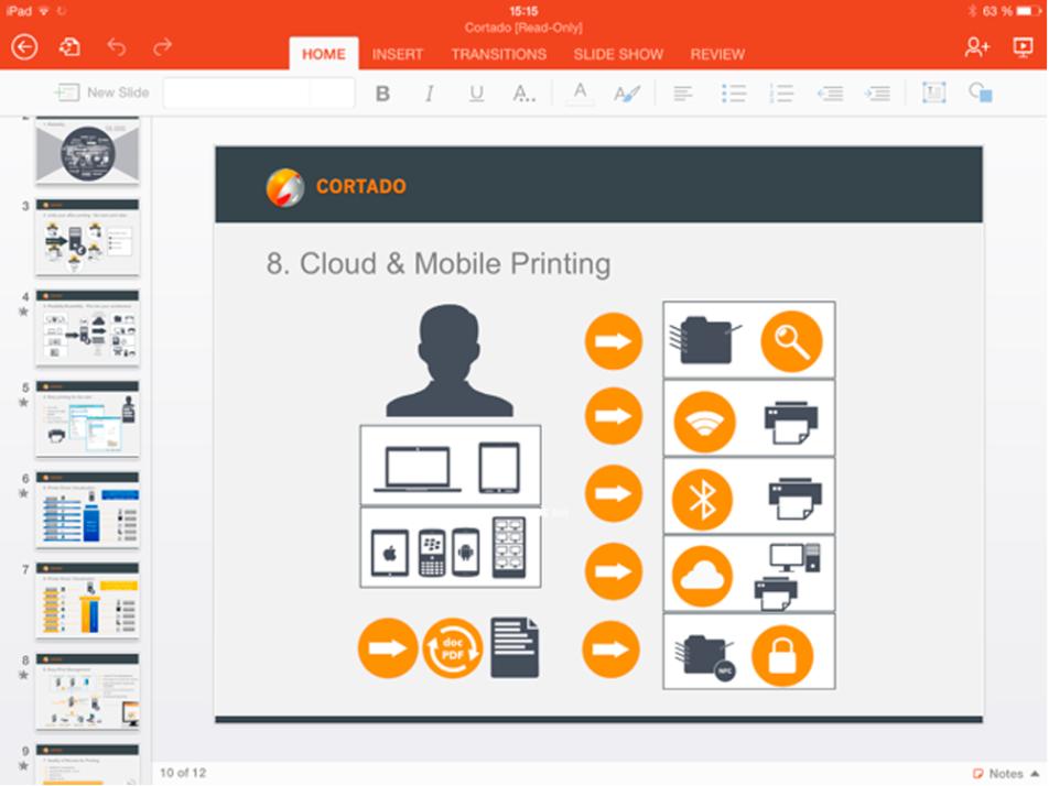 Office for iPad Print App