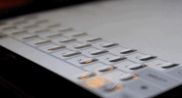 iPad Transparent Keyboard Accessory