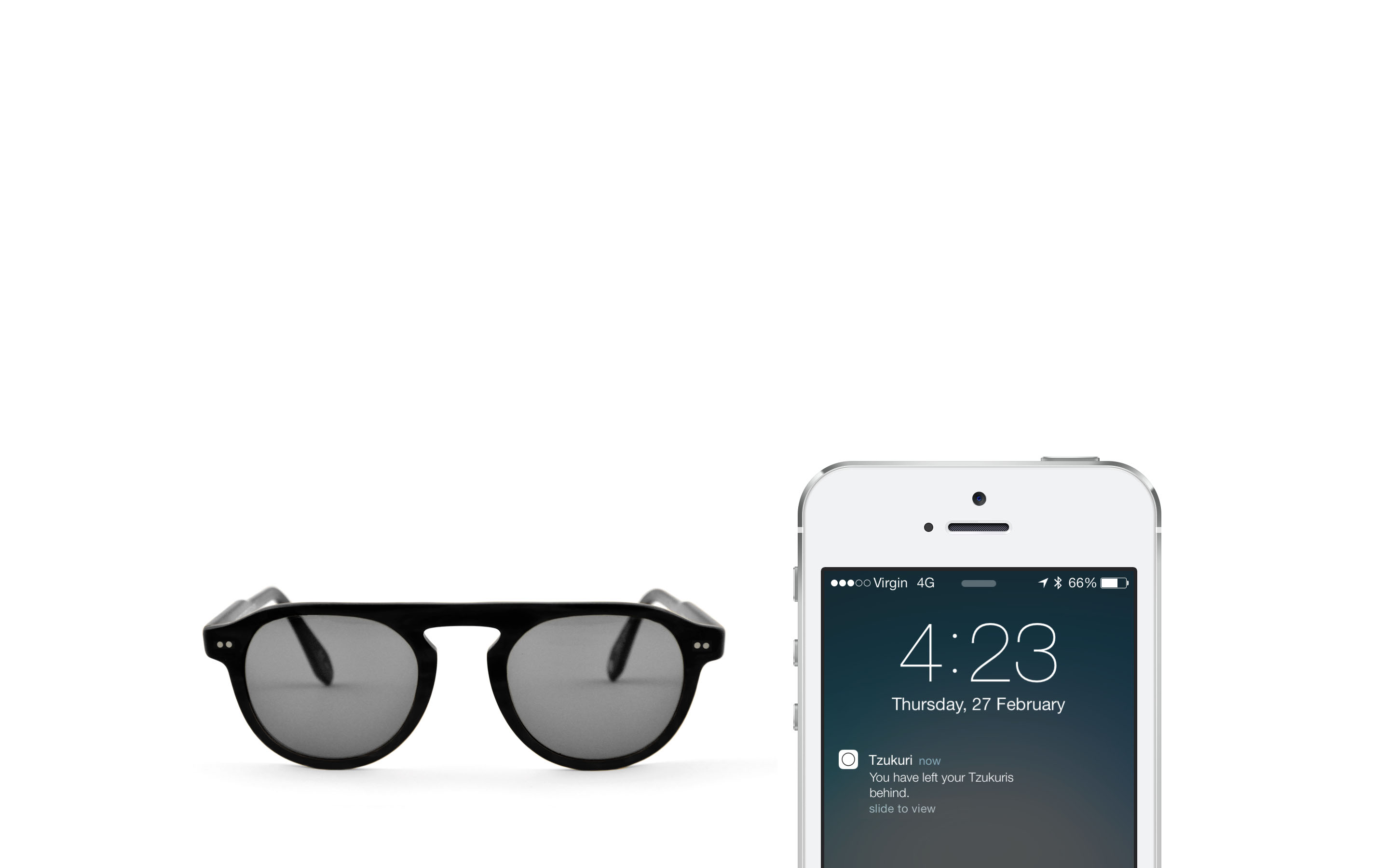 iBeacon sunglasses Tzukuri use Bluetooth Low Energy