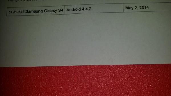 Verizon Galaxy S4 KitKat Leak