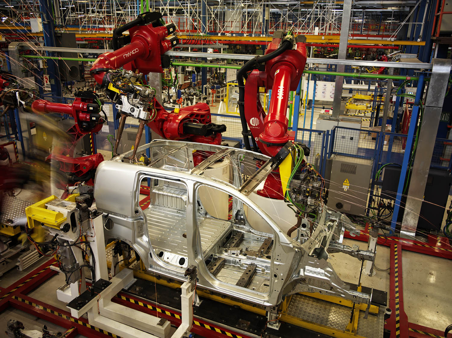 Toyota Car Factory Robots