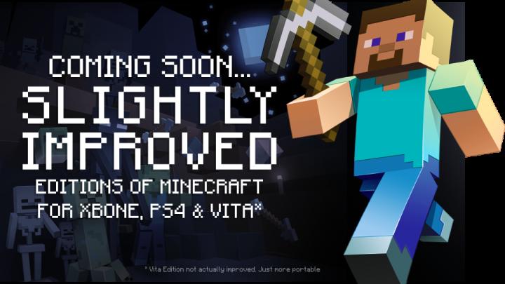 Minecraft PS4 Xbox One PS Vita Release Date