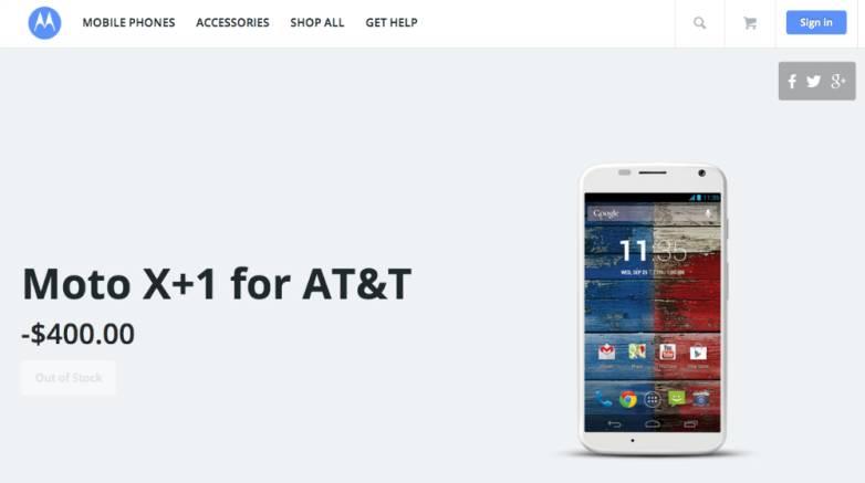 Moto X+1 Launch Price