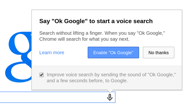 Chrome Voice Search