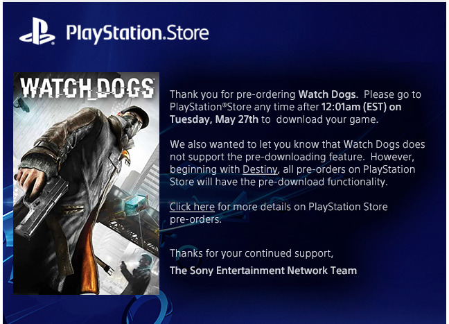 PS4 Pre-Download Pre-Ordered Games Feature