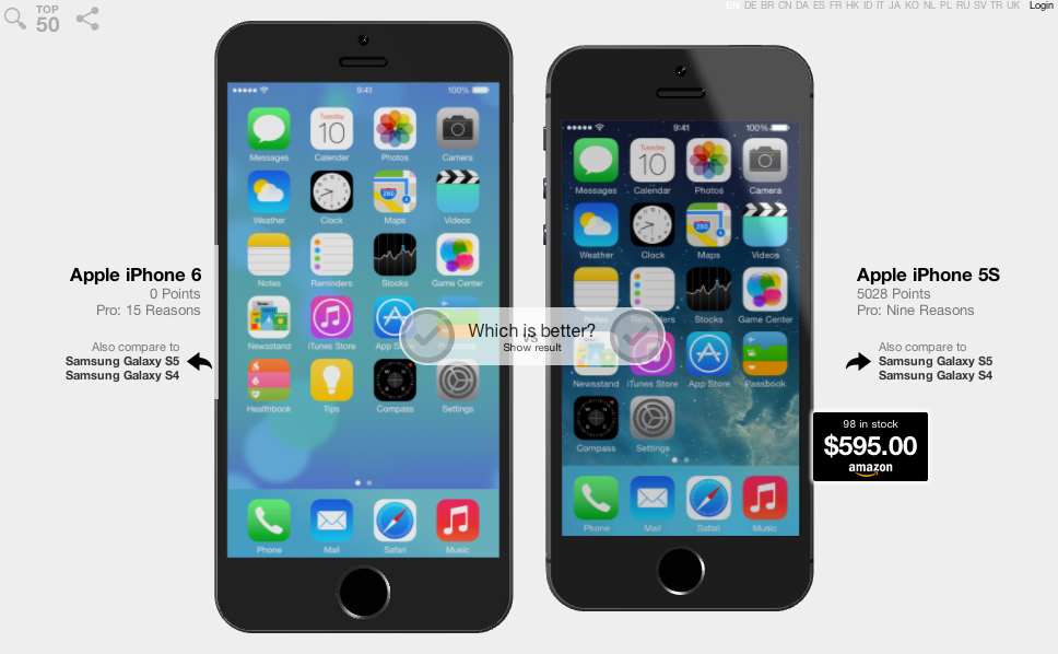 compare iphone 5s and 6 completely redesigned iphone 6 compared to iphone 5s 16816