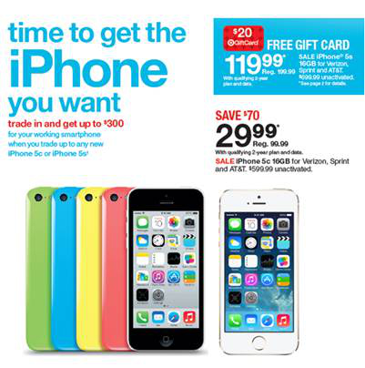 Target Iphone 5s And Iphone 5c Deals Bgr