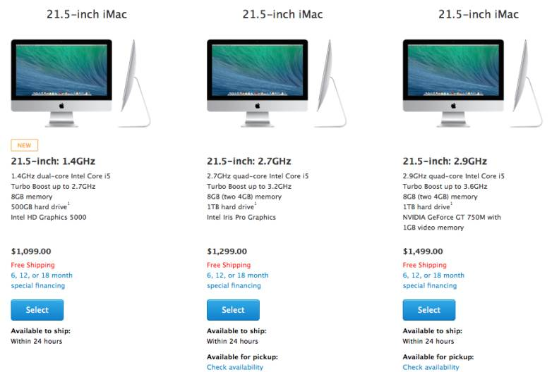 Cheaper iMac Specs and Price
